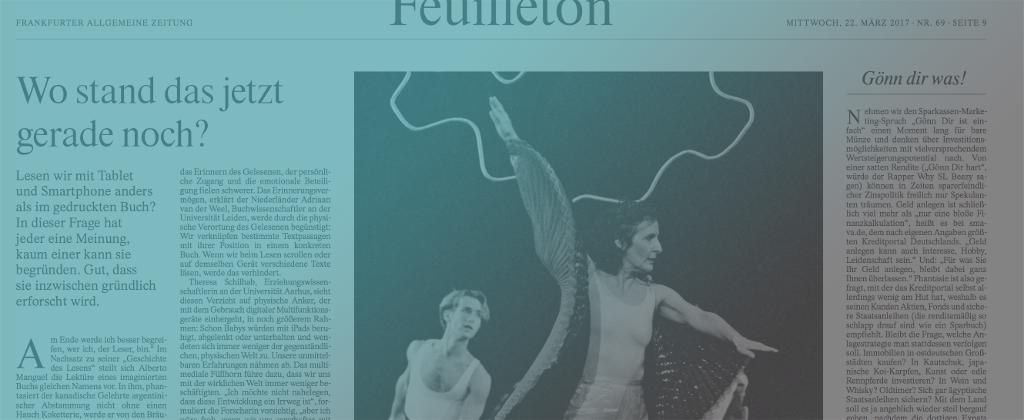 E-READ in the German newspaper Frankfurter Allgemeine Zeitung