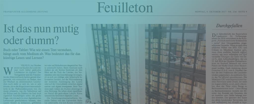 E-READ in FRANKFURTER ALLGEMEINE ZEITUNG