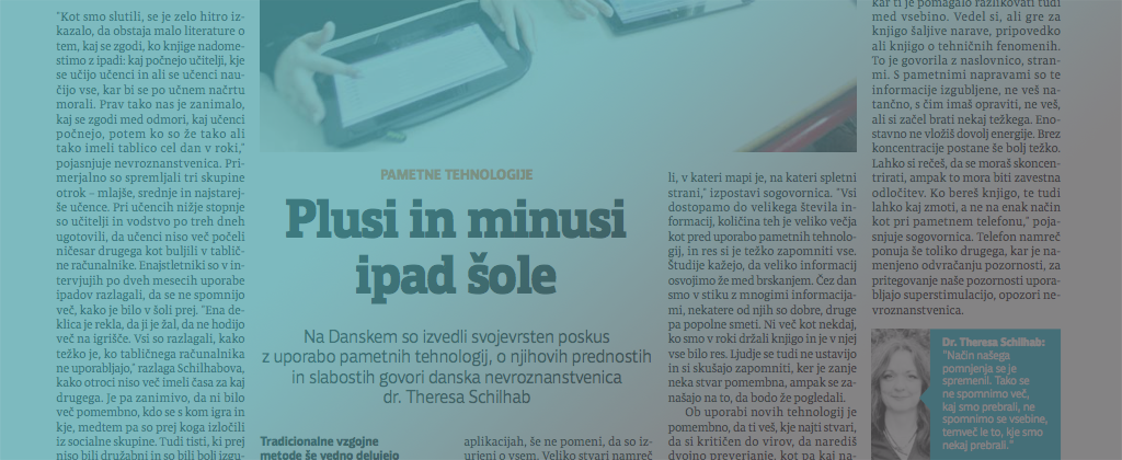 Theresa Schilhab in Slovene media