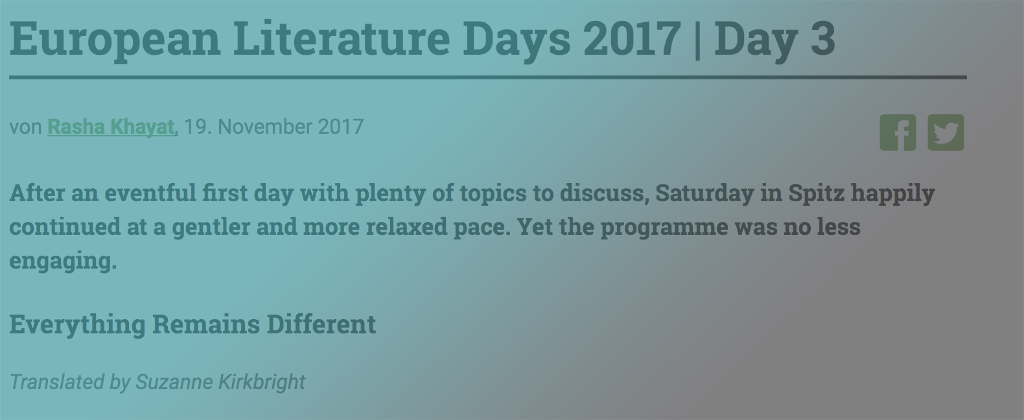 E-READ in European Literature Days 2017