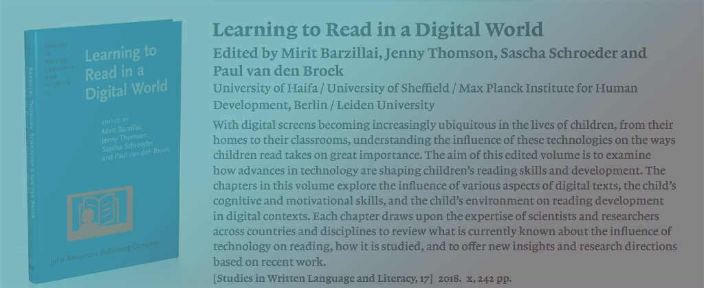 NEW BOOK Learning to Read in a Digital World