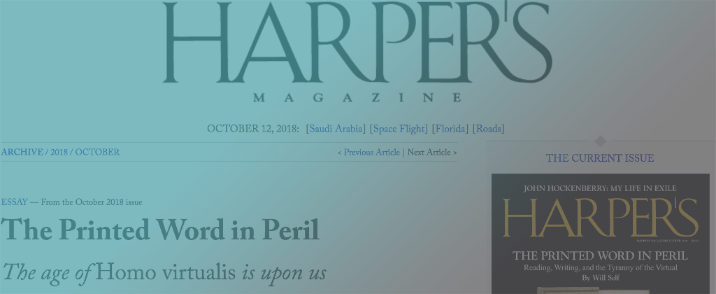 E-READ media coverage by Harper's Magazine