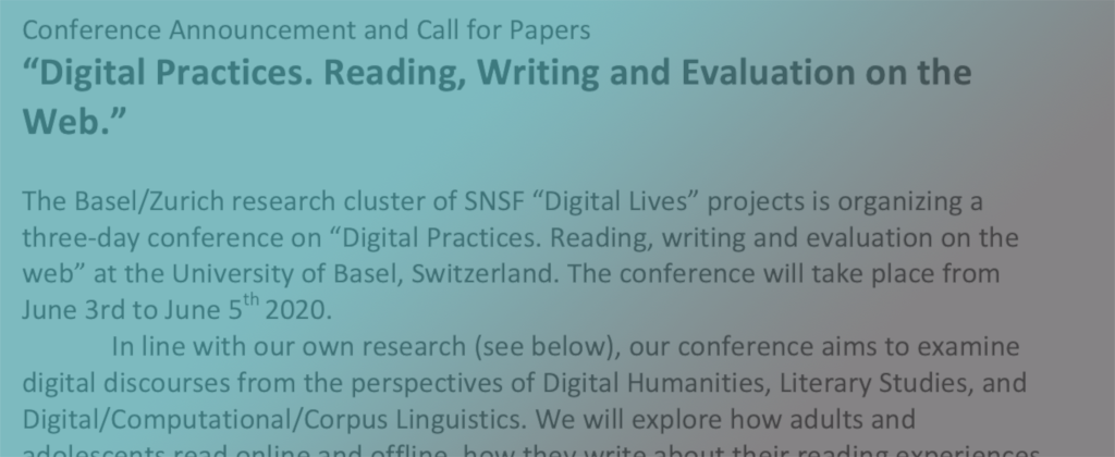 Call for papers of interest to EREAD community