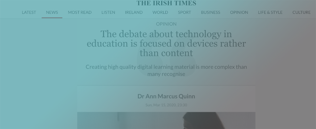 Dr. Ann Marcus Quinn talk about the importance of good design of digital resources